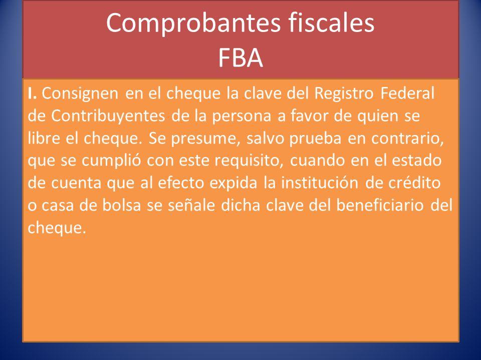Comprobantes fiscales FBA I.