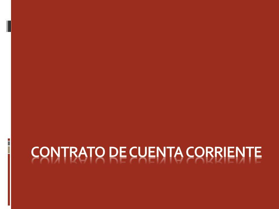 Definición Por el contrato de depósito en cuenta corriente bancaria el cuentacorrentista adquiere la facultad de consignar sumas de dinero y cheques en un establecimiento bancario y de disponer, total o parcialmente, de sus saldos mediante el giro de cheques o en otra forma previamente convenida con el banco.