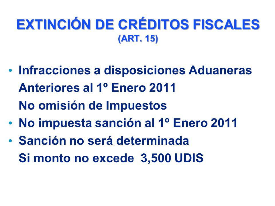 EXTINCIÓN DE CRÉDITOS FISCALES (ART.