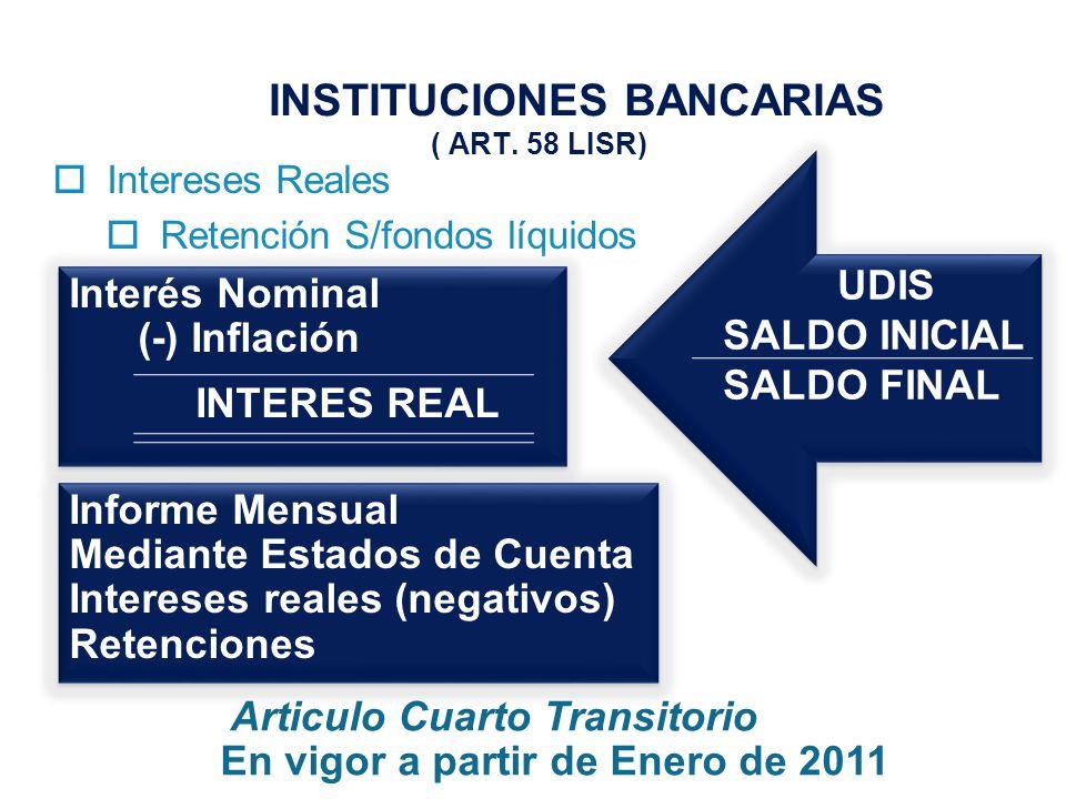 INSTITUCIONES BANCARIAS ( ART.