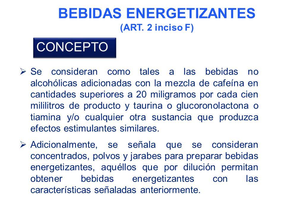 BEBIDAS ENERGETIZANTES (ART.