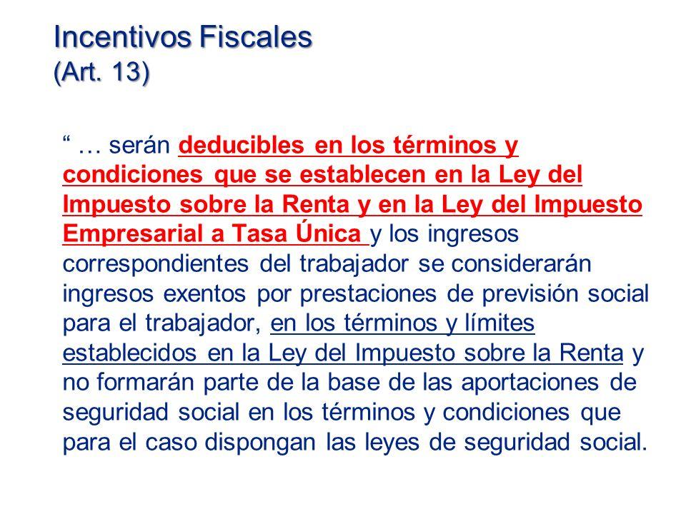 Incentivos Fiscales (Art.