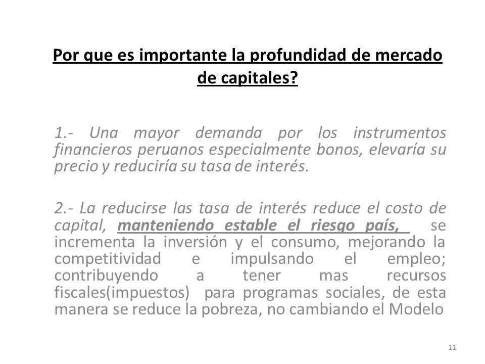 Por que es importante la profundidad de mercado de capitales.