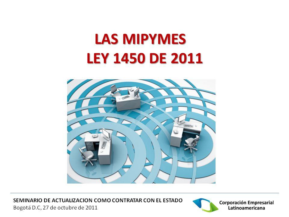 LAS MIPYMES LEY 1450 DE 2011