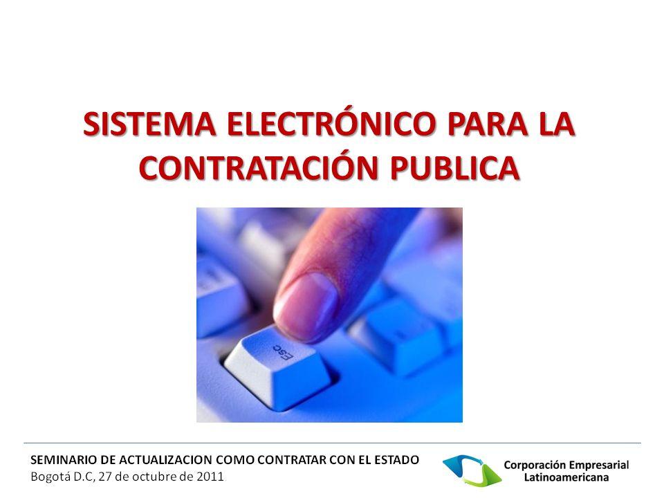 SISTEMA ELECTRÓNICO PARA LA CONTRATACIÓN PUBLICA