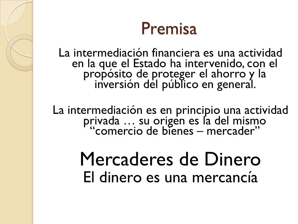 Delito de Intermediación Financiera (96 LBYGF) Comete delito de intermediación financiera toda persona individual o jurídica, nacional o extranjera, que sin estar autorizada expresamente de conformidad con la presente Ley o leyes específicas para realizar operaciones de tal naturaleza, efectúa habitualmente en forma pública o privada, directa o indirectamente, por sí misma o en combinación con otra u otras personas individuales o jurídicas, en beneficio propio o de terceros, actividades que consistan en, o que se relacionen con, la captación de dinero del público o de cualquier instrumento representativo de dinero, ya sea mediante recepción de especies monetarias, cheques, depósitos, anticipos, mutuos, colocación de bonos, títulos u otras obligaciones, incluyendo operaciones contingentes, destinando dichas captaciones a negocios de crédito o financiamiento de cualquier naturaleza, independientemente de la forma jurídica de formalización, instrumentación o registro contable de las operaciones.
