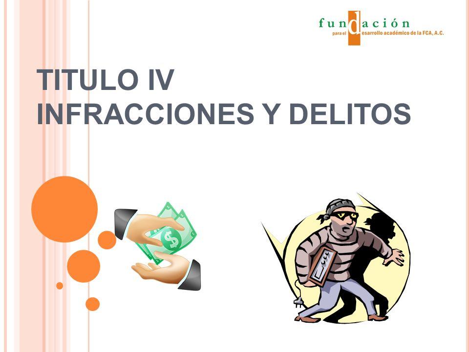 TITULO IV INFRACCIONES Y DELITOS
