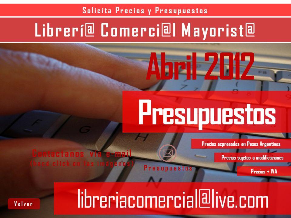 Librerí@ Comerci@l Mayorist@ libreriacomercial@live.com CLASIFICADORES CARPETAS C/FOLIOS SOBRES C/CIERRE SOBRES C/BOTON Siguiente