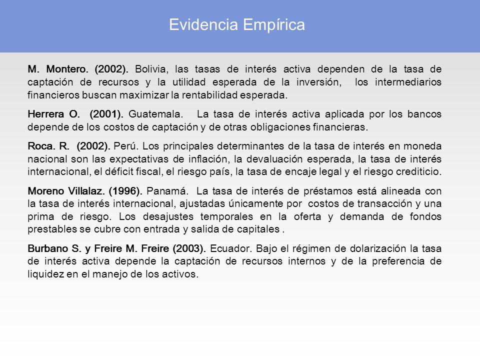 Evidencia Empírica M.Montero. (2002).