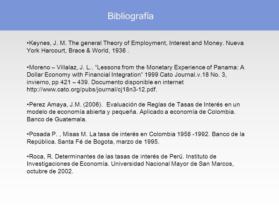 Bibliografía Keynes, J.M. The general Theory of Employment, Interest and Money.