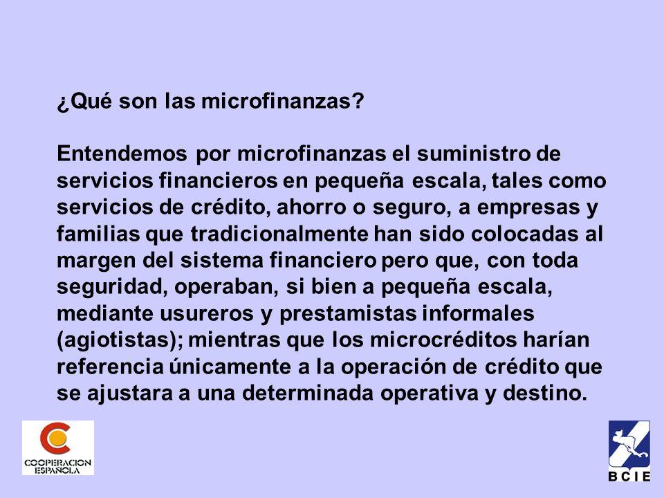¿Qué son las microfinanzas.