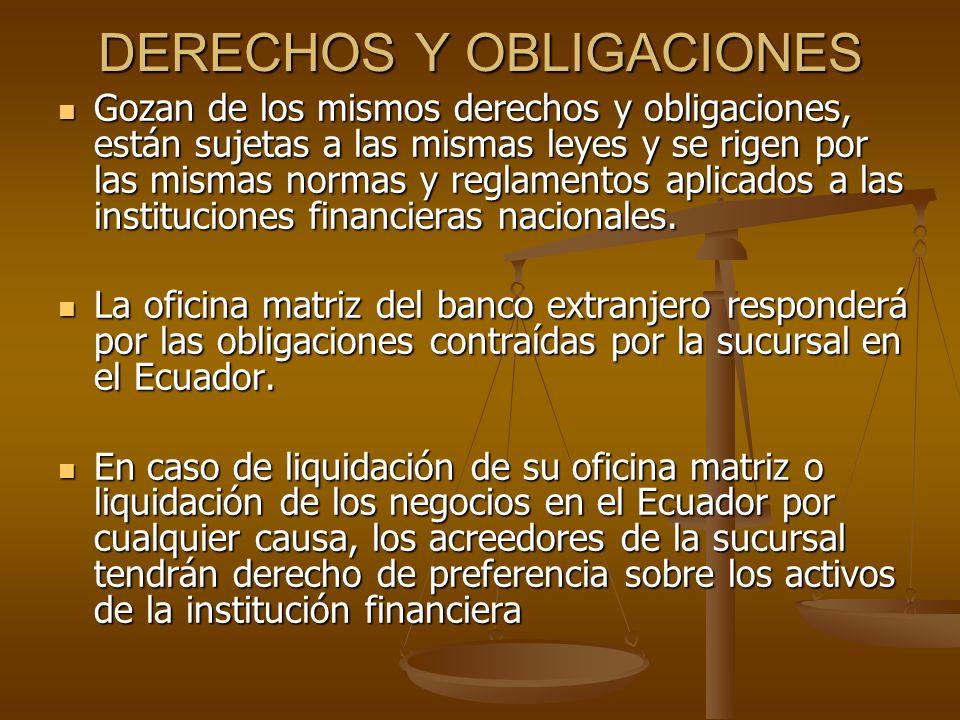 DERECHOS Y OBLIGACIONES Gozan de los mismos derechos y obligaciones, están sujetas a las mismas leyes y se rigen por las mismas normas y reglamentos a
