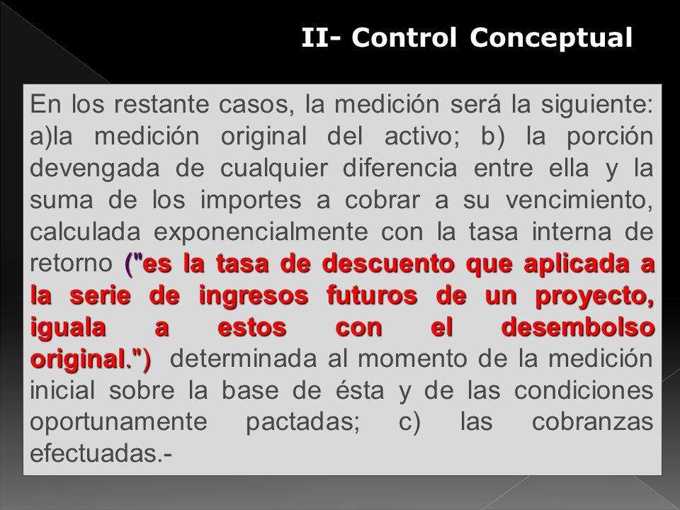 II- Control Conceptual (