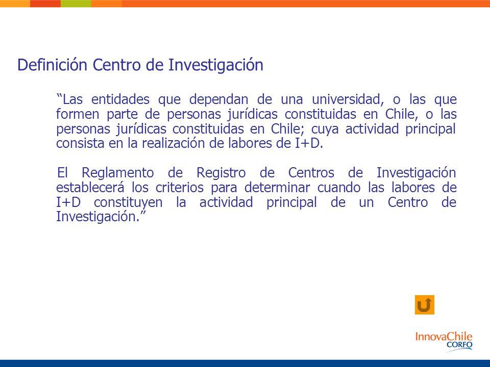 Las entidades que dependan de una universidad, o las que formen parte de personas jurídicas constituidas en Chile, o las personas jurídicas constituid