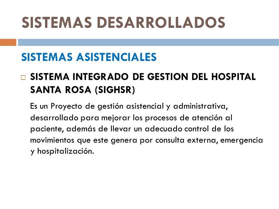 MÓDULOS DEL SIGHSR ATENCION SOCIAL AL PACIENTE Registra las autorizaciones de descuento a pacientes por consulta externa y emergencia.