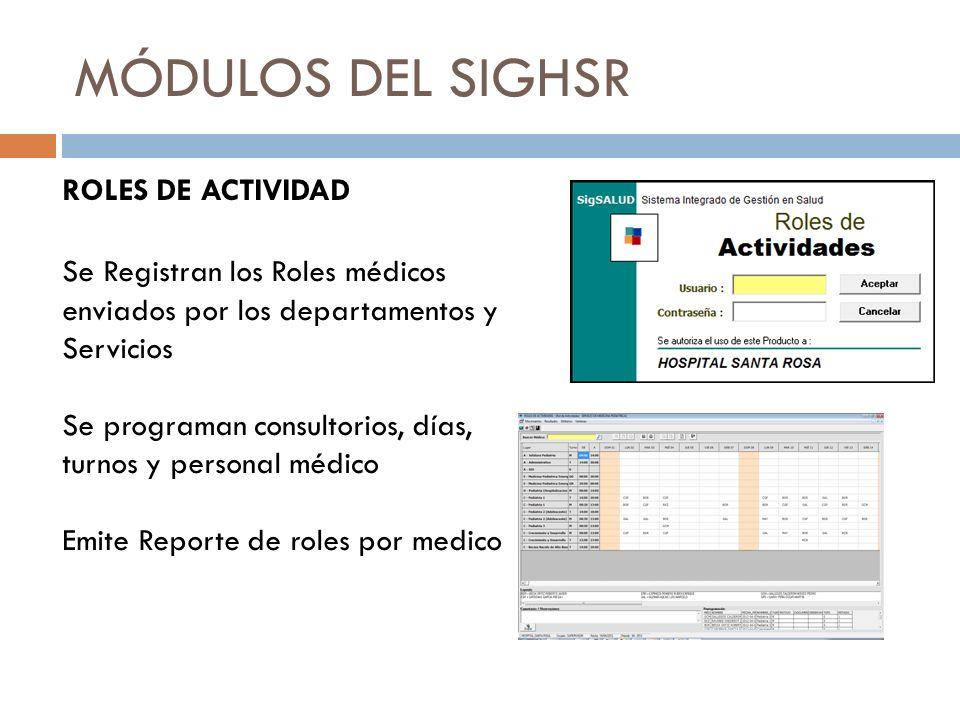 PROYECTOS EN DESARROLLO Este Sistema se enlazará con el módulo de Atención social del paciente, para emitir reportes de las exoneraciones realizadas por la institución en periodos definidos.
