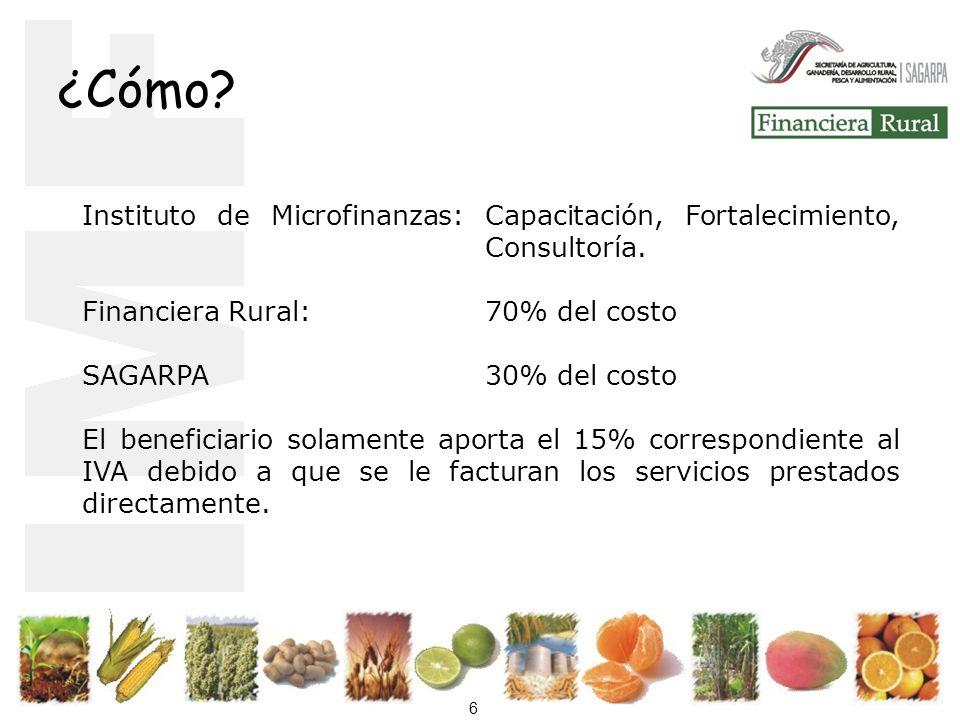 6 ¿Cómo.Instituto de Microfinanzas: Capacitación, Fortalecimiento, Consultoría.