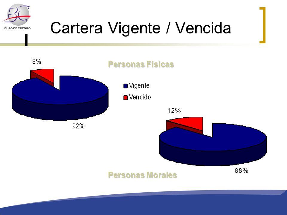 Cartera Vigente / Vencida Personas Físicas Personas Morales