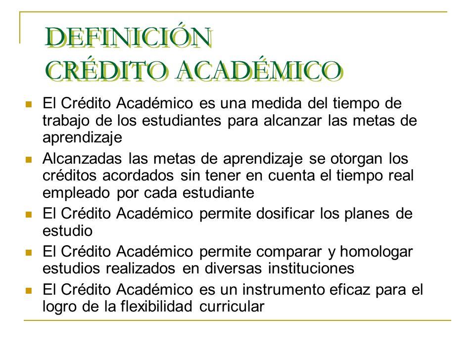 CRÉDITOS ACADÉMICOS Presentación en la Universidad de los Llanos - Villavicencio Pedro P. Polo Verano agosto de 2007 Presentación en la Universidad de