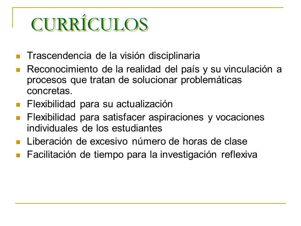 LINEAMIENTOS PUJ Misión: formación integral centrada en los currículos, interdisciplinariedad. Proyecto Educativo: currículos organizan e integran opo