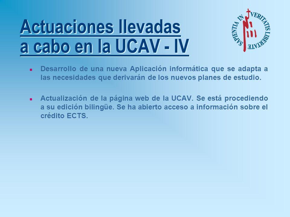 Actuaciones llevadas a cabo en la UCAV - III n Participación de la UCAV en el grupo técnico (grupo 5) del Consejo de Coordinación Universitaria, encar