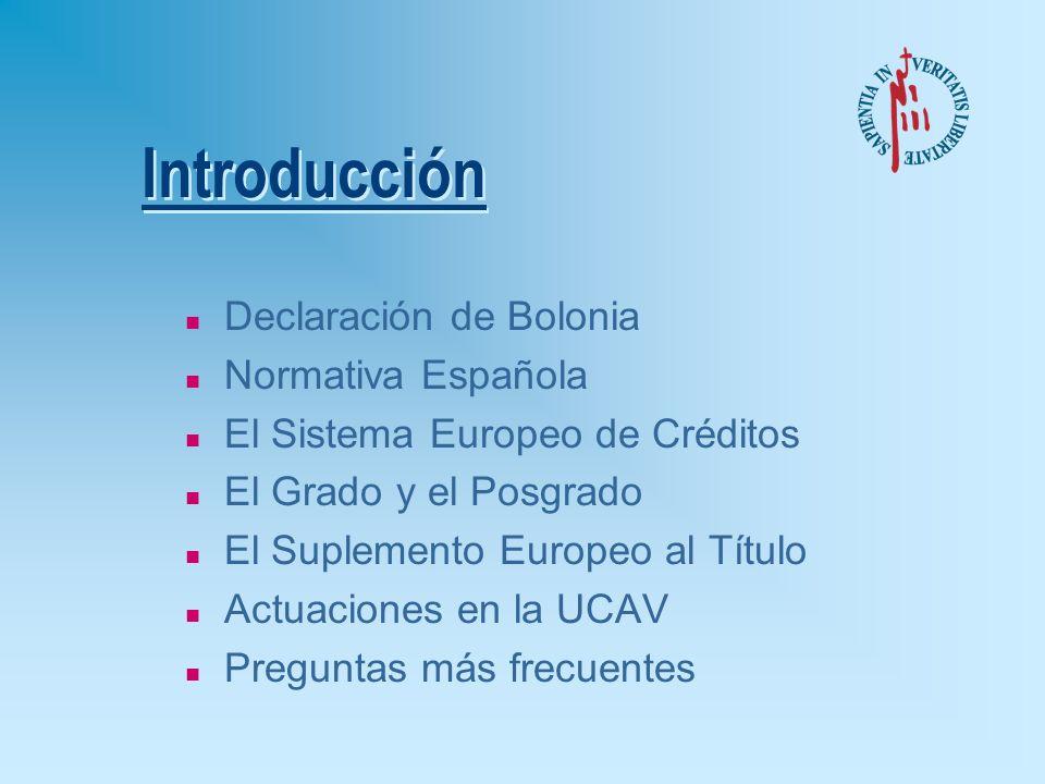 Preguntas más frecuentes sobre Estudios de Posgrado (Fuente: Grupo de Promotores de Bolonia en España - Programa Sócrates 2005) è5.