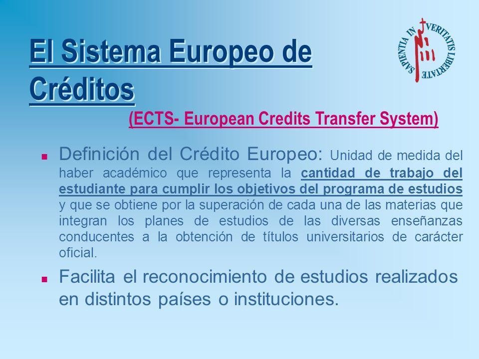 Normativa Española u R.D. 1044/2003: è Procedimiento de Expedición del Suplemento Europeo al Título. u R.D. 1125/2003: è Sistema europeo de créditos.