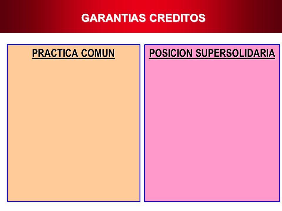 10 GARANTIAS CREDITOS PRACTICA COMUN POSICION SUPERSOLIDARIA