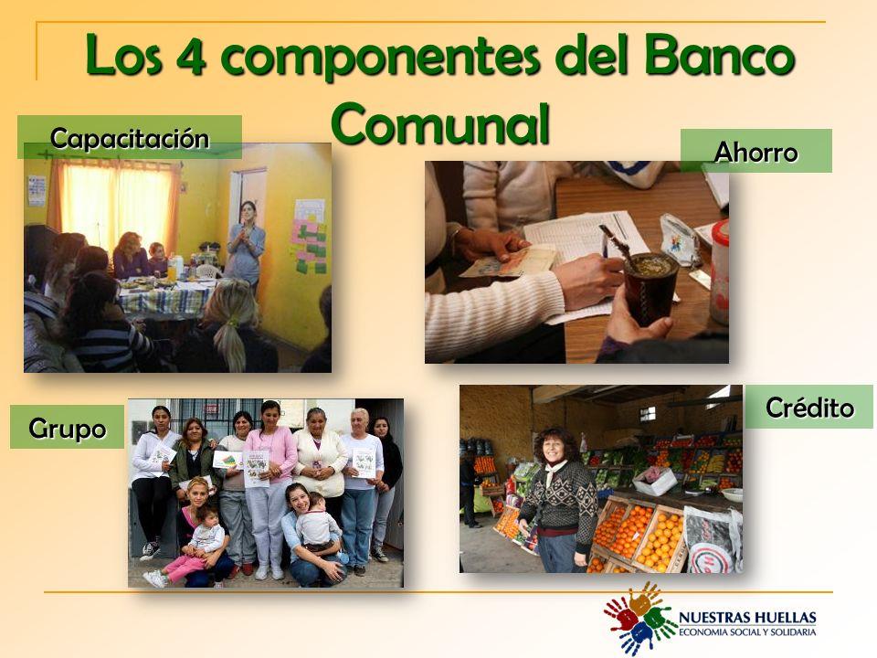 Los 4 componentes del Banco Comunal Capacitación Ahorro Grupo Crédito