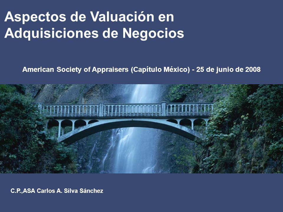 2 Aspectos de Valuación en Adquisiciones de Negocios IFRS / IAS (Internacional)FAS(E.U.)NIF(México)NormatividadDirectamenteRelacionada IFRS 3 Combinaciones de Negocios IAS 38 (R) Activos Intangibles FAS 141 (R) Combinaciones de Negocios FAS 142 Activos Intangibles B 7 Adquisiciones de Negocios C 8 Activos Intangibles Antecedentes Convergencia de Internacional de Normas de Contabilidad IFRS = International Financial Reporting Standard FAS = Financial Accounting Standard IAS = International Accouting Standard NIF = Norma de Información Financiera R = Versión Revisada