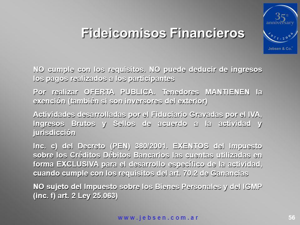 Fideicomisos Financieros NO cumple con los requisitos. NO puede deducir de ingresos los pagos realizados a los participantes Por realizar OFERTA PUBLI