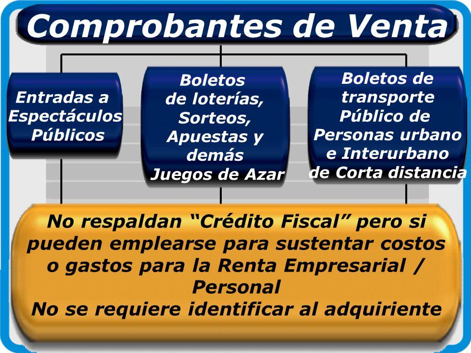 Tickets o Billetes emitidos por empresas de Transporte Aéreo Respaldan Crédito Fiscal de IVA sustentan costo y gastos cuando identifica al adquirente Comprobantes de Venta