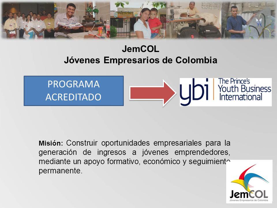Misión: Construir oportunidades empresariales para la generación de ingresos a jóvenes emprendedores, mediante un apoyo formativo, económico y seguimiento permanente.