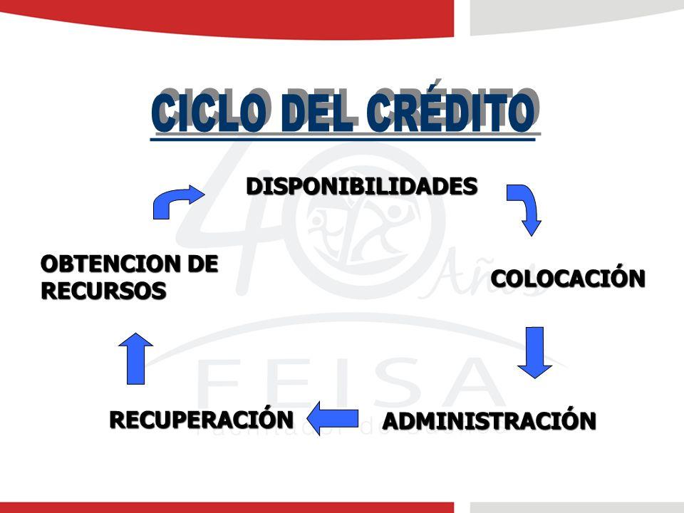 OBTENCION DE RECURSOS DISPONIBILIDADES COLOCACIÓN ADMINISTRACIÓN RECUPERACIÓN