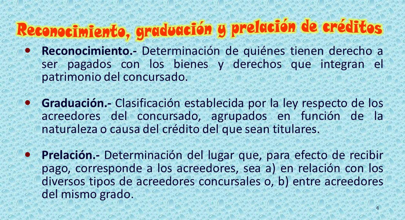 CRÉDITOS DEL CONCURSADO.217 al 220 y 222. I).- Acreedores singularmente privilegiados.