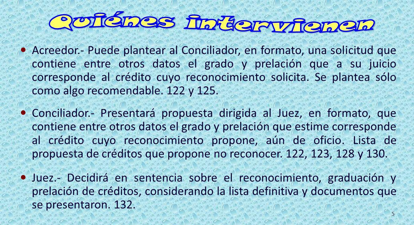 CRÉDITOS DEL CONCURSADO.217 al 220 y 222. II).- Acreedores con garantía real.