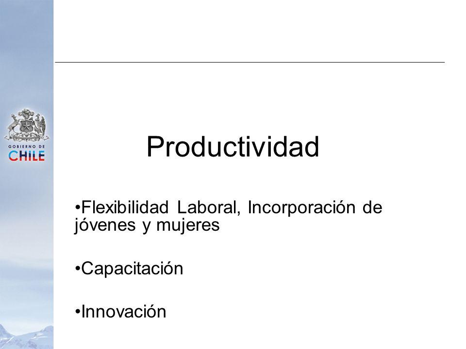 Productividad Flexibilidad Laboral, Incorporación de jóvenes y mujeres Capacitación Innovación