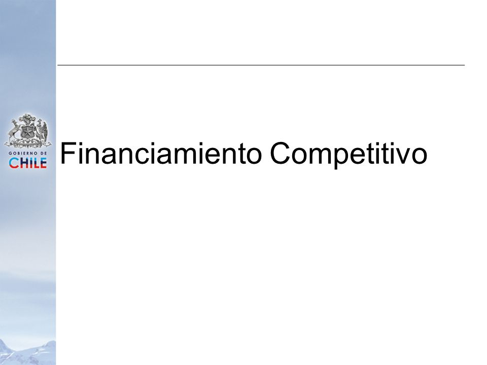 Financiamiento Competitivo