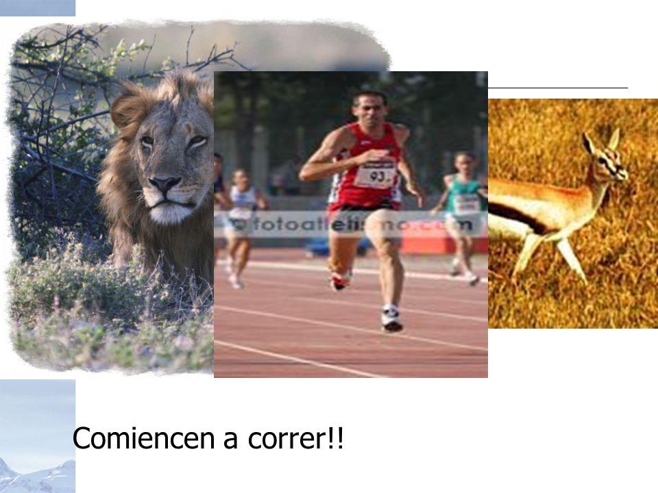 Comiencen a correr!!