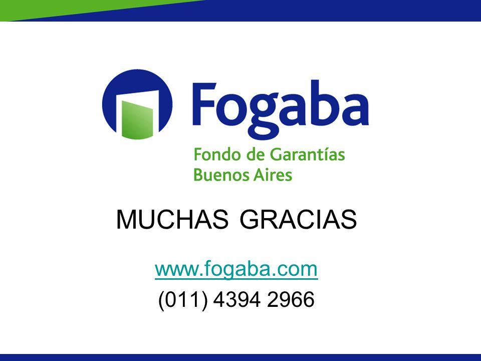 MUCHAS GRACIAS www.fogaba.com (011) 4394 2966