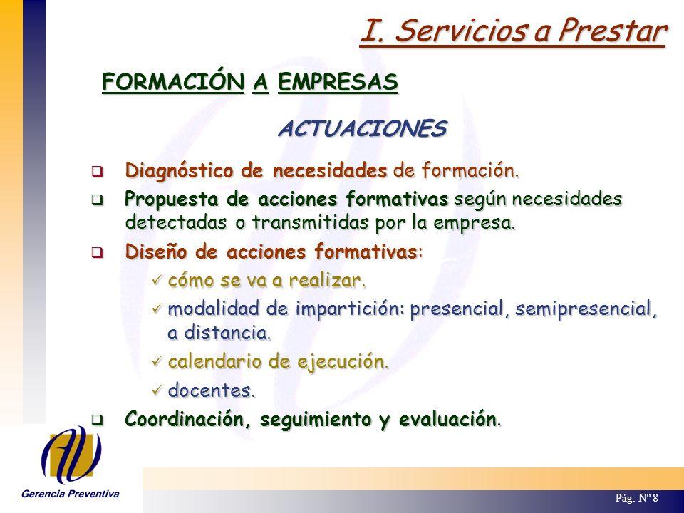 III.Características de la Formación ACCIONES FORMATIVAS / GRUPOS Pág.