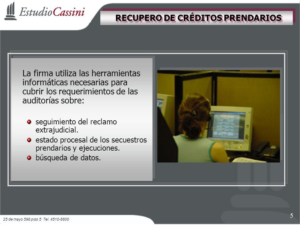 La firma utiliza las herramientas informáticas necesarias para cubrir los requerimientos de las auditorías sobre: seguimiento del reclamo extrajudicial.