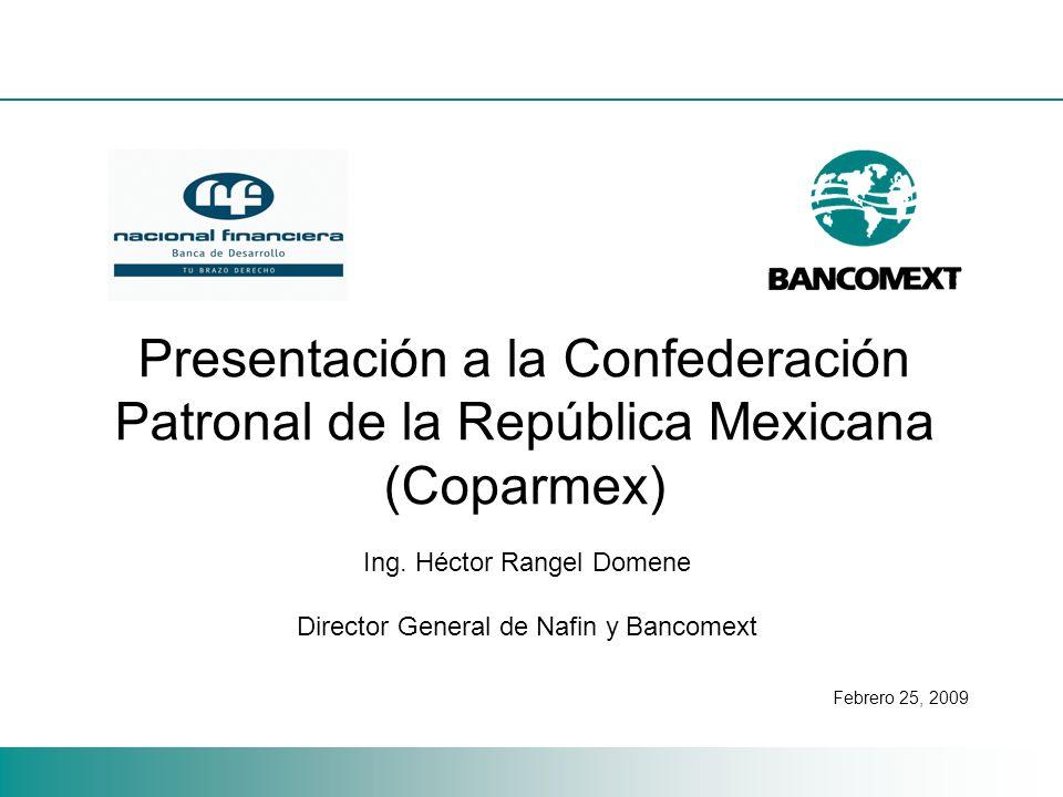 Presentación a la Confederación Patronal de la República Mexicana (Coparmex) Ing.