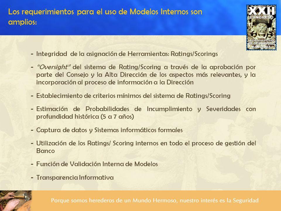 -Integridad de la asignación de Herramientas: Ratings/Scorings -Oversight del sistema de Rating/Scoring a través de la aprobación por parte del Consej