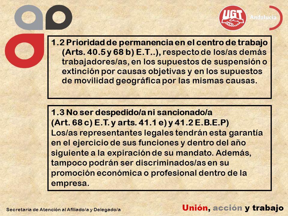 1.4 Derecho de opción entre la readmisión o el abono de la indemnización en despidos improcedentes (art.