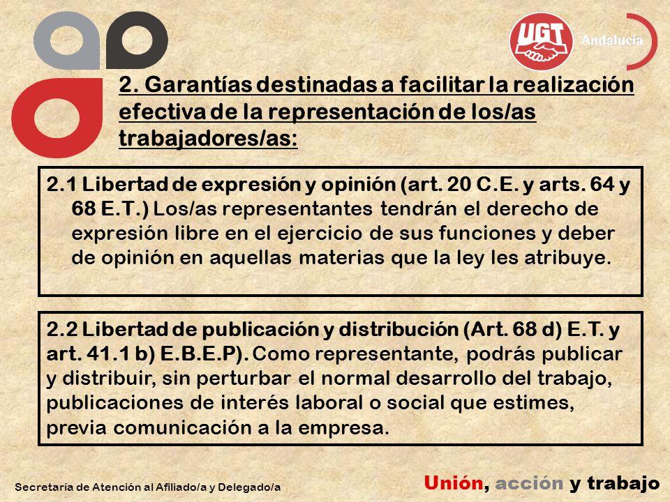 2.3 Derecho de reunión (Art.4.1 f), 77.1 y 78 E.T.