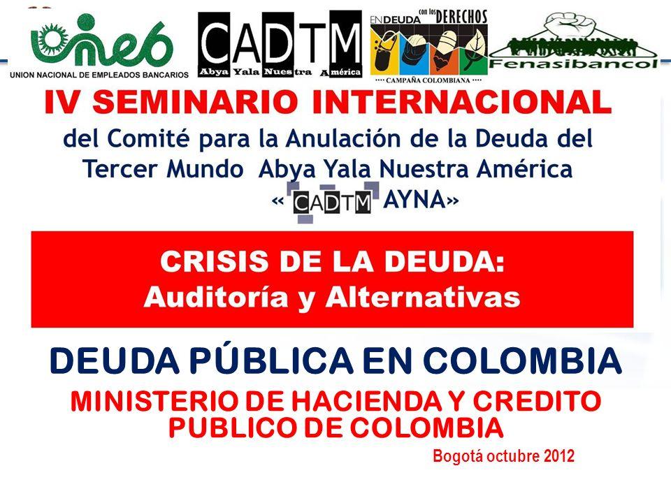 Ministerio de Hacienda y Crédito Público Octubrede 2012