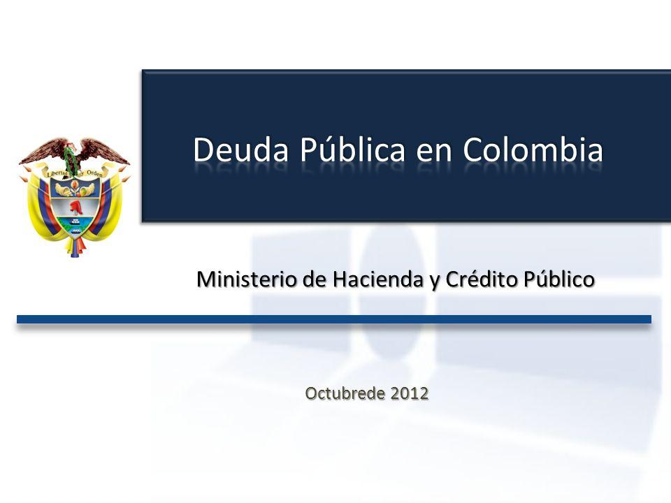 Ministerio de Hacienda y Crédito Público Marco Legal Proyecciones Fiscales La Deuda Pública y su Estructura La Deuda en el PGN 1 2 3 4
