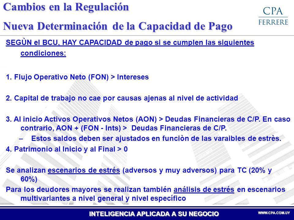INTELIGENCIA APLICADA A SU NEGOCIO WWW.CPA.COM.UYWWW.CPA.COM.UY Cambios en la Regulación Nuevas Cat.