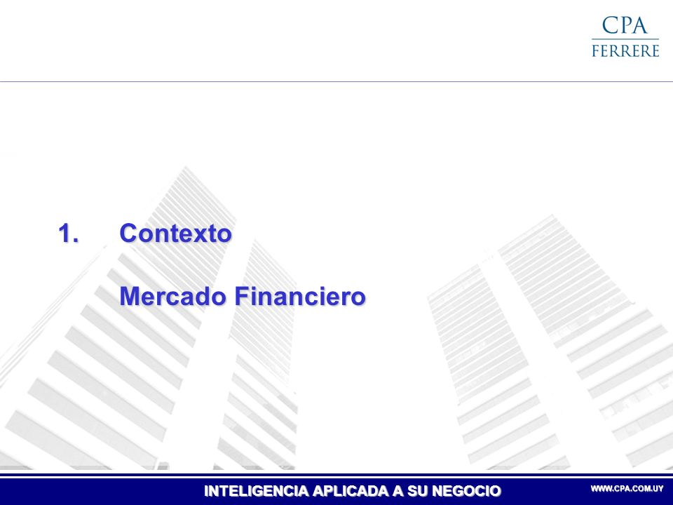 INTELIGENCIA APLICADA A SU NEGOCIO WWW.CPA.COM.UYWWW.CPA.COM.UY Crédito del Sistema Bancario al Sector No Financiero